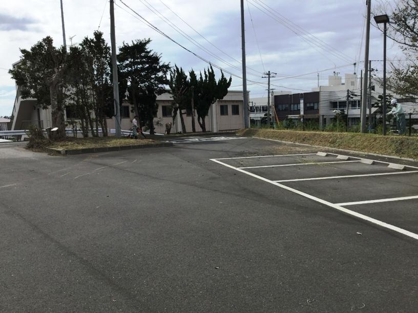 第二駐車場作業風景2